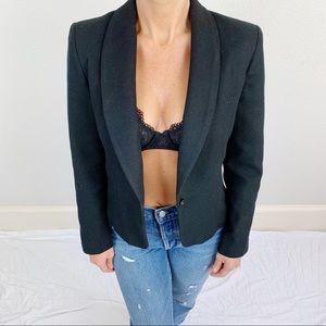 Vintage Patricia Roberts Black Wool Blazer C47
